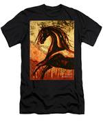Horse Through Web Of Fire Men's T-Shirt (Athletic Fit)