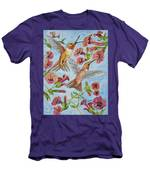 Hummingbirds And Hibiscus II Men's T-Shirt (Athletic Fit)