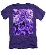 Hydrangeas And Daisies So Purple Men's T-Shirt (Athletic Fit)