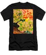 Hydrangeas And Swirls Men's T-Shirt (Athletic Fit)