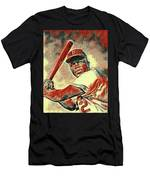 Jackie Robinson Baseball Player Men's T-Shirt (Athletic Fit)