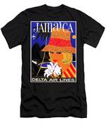 Jamaica, Woman With Orange Hat Men's T-Shirt (Athletic Fit)