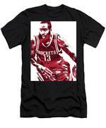 James Harden Houston Rockets Pixel Art 3 Men's T-Shirt (Athletic Fit)