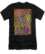 Jancart Drawing Abstract #8455wt Men's T-Shirt (Athletic Fit)