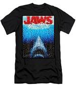 Jaws Horror Mosaic Men's T-Shirt (Athletic Fit)
