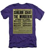 John Wilkes Booth Wanted Poster Men's T-Shirt (Athletic Fit)
