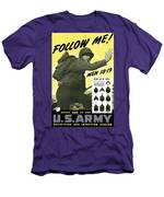 Join The Us Army - Follow Me Men's T-Shirt (Athletic Fit)