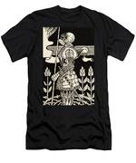 Knight Of Arthur, Preparing To Go Into Battle, Illustration From Le Morte D'arthur By Thomas Malory Men's T-Shirt (Athletic Fit)