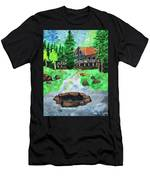 Lakewoods Lodge Men's T-Shirt (Athletic Fit)