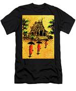 Procession To Temple, Lao Collection Men's T-Shirt (Athletic Fit)