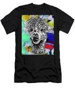 Llama And Lady In Splash Men's T-Shirt (Athletic Fit)