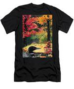 Loon In Water Garden Men's T-Shirt (Athletic Fit)