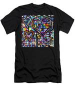 Love Hearts Men's T-Shirt (Athletic Fit)