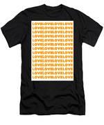 Love In Orange  Men's T-Shirt (Athletic Fit)