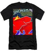 Lower East Side Graffiti  Art  Men's T-Shirt (Athletic Fit)