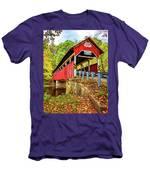 Lower Humbert Covered Bridge 2 Men's T-Shirt (Athletic Fit)