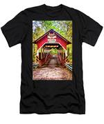 Lower Humbert Covered Bridge 5 Men's T-Shirt (Athletic Fit)