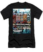 Lunch At The Harbor Men's T-Shirt (Athletic Fit)