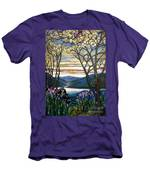 Magnolias And Irises Men's T-Shirt (Athletic Fit)