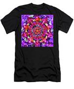Mandala Floral Red Purple Men's T-Shirt (Athletic Fit)