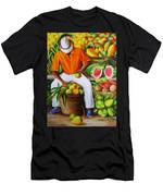 Manuel The Caribbean Fruit Vendor  Men's T-Shirt (Athletic Fit)