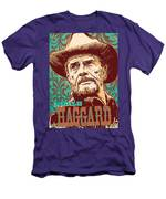 Merle Haggard Pop Art Men's T-Shirt (Athletic Fit)