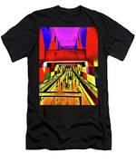 Metro 4, Budapest, Hungary, Poster Effect 1a Men's T-Shirt (Athletic Fit)