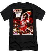 Michael Jordan Magical Dunk Men's T-Shirt (Athletic Fit)