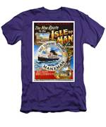 Midland Railway, Steam Boat, Isle Of Man, Poster Men's T-Shirt (Athletic Fit)