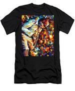 Miles Davis - Gold Trumpet Men's T-Shirt (Athletic Fit)