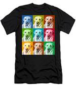 Golden Retriever Warhol Men's T-Shirt (Athletic Fit)