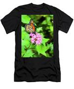 Monarch Butterfly And Honey Bee Men's T-Shirt (Athletic Fit)