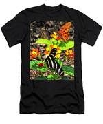 Monarch Butterfly And Zebra Butterfly Men's T-Shirt (Athletic Fit)