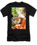 Monks Blessing Buddhist Wedding Ring Ceremony In Cambodia Asia Men's T-Shirt (Athletic Fit)