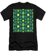 Monstera Leaves Pattern Men's T-Shirt (Athletic Fit)