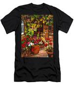 Montreal Cityscenes Homes And Gardens Men's T-Shirt (Athletic Fit)