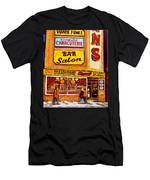 Montreal Paintings Dunns Restaurant Streets Of Montreal Men's T-Shirt (Athletic Fit)