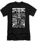 Mountain Town Skeleton Men's T-Shirt (Athletic Fit)