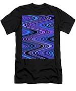 Moveonart Waves In Peaceful Movement Men's T-Shirt (Athletic Fit)