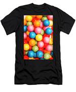 Multi Colored Gumballs. Sweets Background Men's T-Shirt (Athletic Fit)