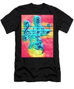 Music Is Everything In Colors Men's T-Shirt (Athletic Fit)