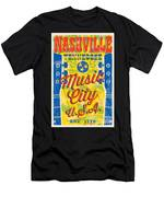 Nashville Tennessee Poster Men's T-Shirt (Athletic Fit)