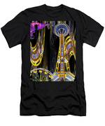 Needle And Ferris Wheel  Men's T-Shirt (Athletic Fit)