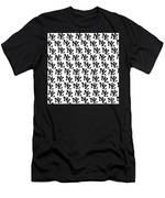 Nz New Zealand Black On White Men's T-Shirt (Athletic Fit)