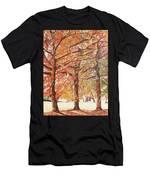 Oak Trees In The Park Men's T-Shirt (Athletic Fit)