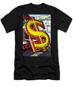Old Dollar Sign Men's T-Shirt (Athletic Fit)