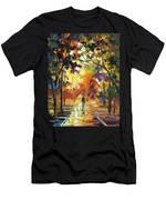 Old Park 3 - Palette Knife Oil Painting On Canvas By Leonid Afremov Men's T-Shirt (Athletic Fit)