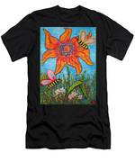 On The Flower Men's T-Shirt (Athletic Fit)