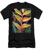 Orange Heliconia Men's T-Shirt (Athletic Fit)