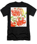 Orange Tiger Lilies Men's T-Shirt (Athletic Fit)